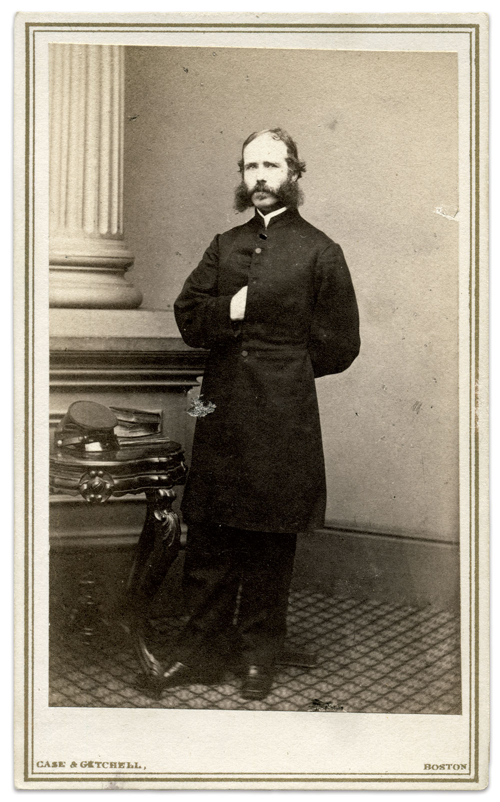 Carte de visite by Case & Getchell of Boston, Mass. Rick Carlile Collection.