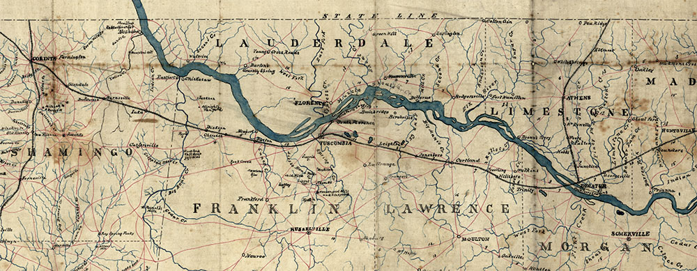 Strategically important Decatur: Located in northeast Alabama, it sat at the intersection of two railroads and the Tennessee River. Library of Congress.