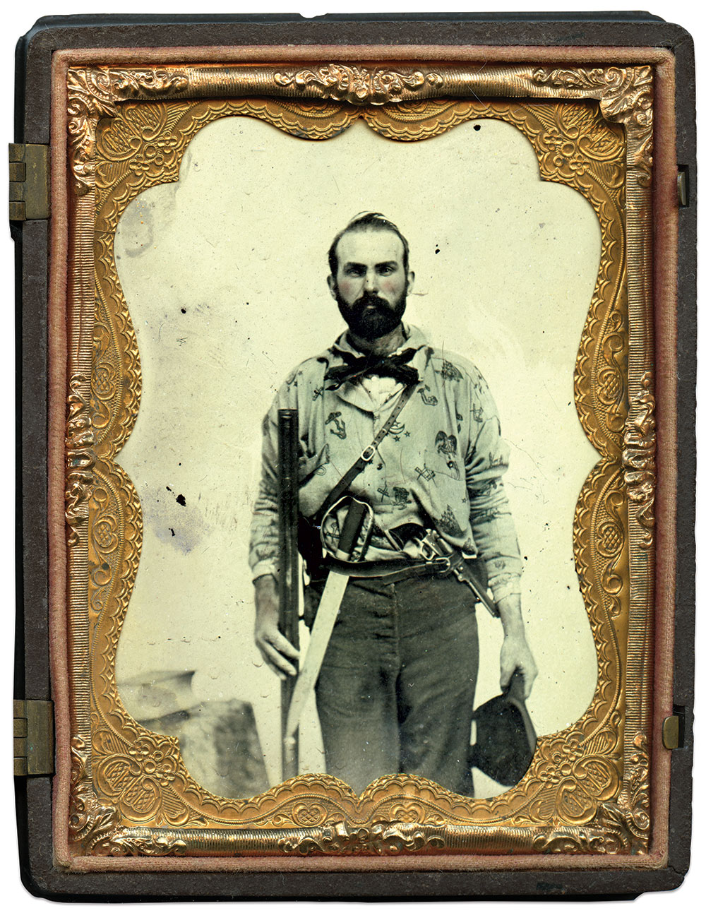 Quarter-plate ambrotype by an anonymous photographer. Kevin Canberg Collection.