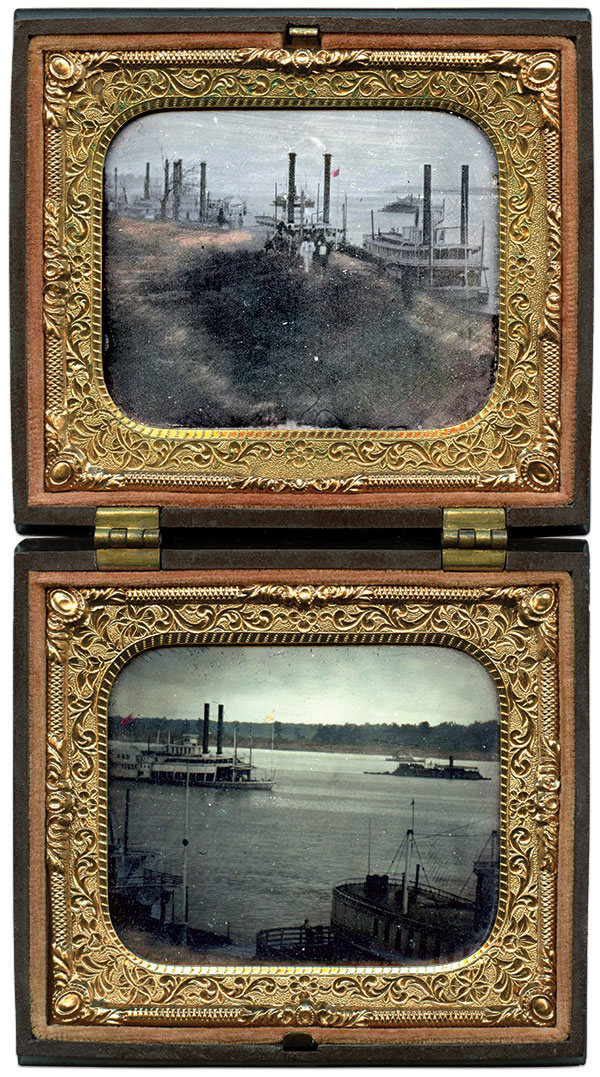 Sixth-plate tintypes possibly by Andrew D. Lytle of Baton Rouge, La.