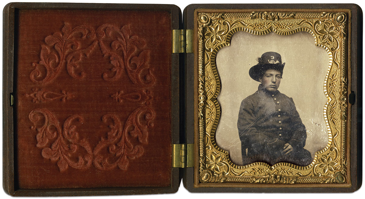 Sixth-plate tintype by an anonymous photographer. Jeff Kowalis Collection.