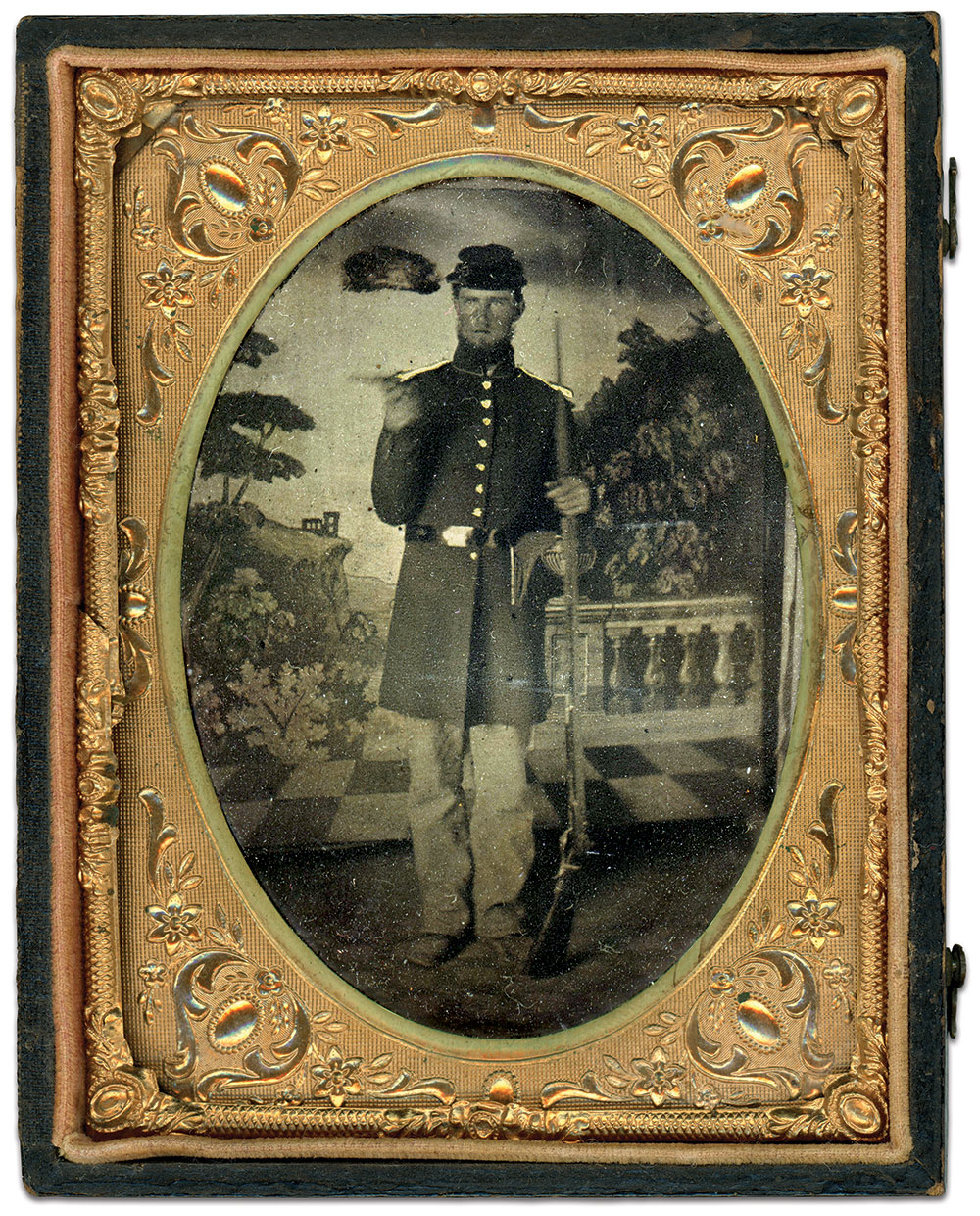 Quarter-plate tintype by an anonymous photographer. Faye and Ed Max Collection.