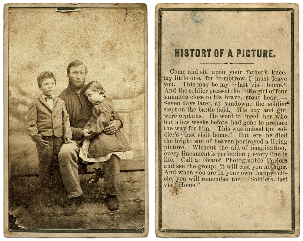 Carte de visite by Evans' Photographic Parlors of Buffalo, N.Y. Michael J. McAfee Collection.