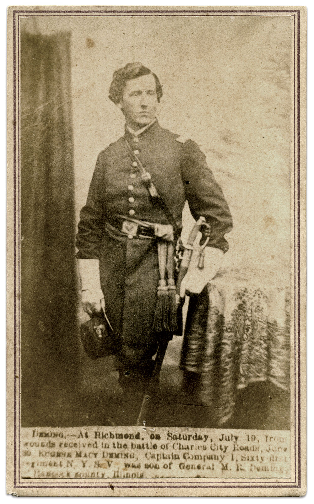 Carte de visite by R.A. Lewis of New York City. Michael J. McAfee Collection.