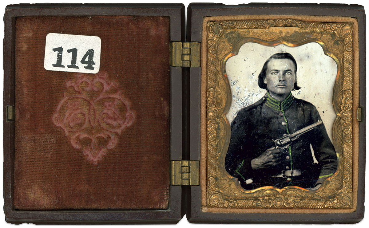 Ninth-plate ambrotype by an anonymous photographer. Bobby McCoy Collection.