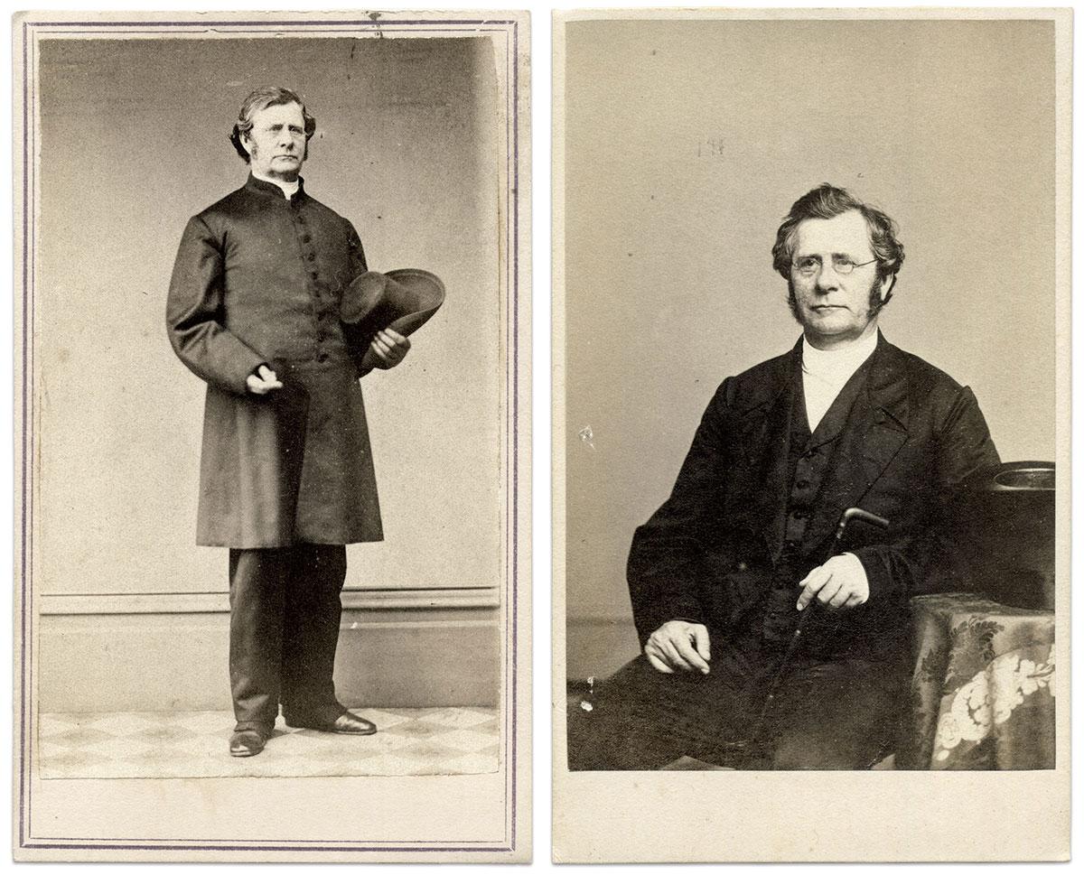 Cartes de visite by Paret of New York City (uniform) and Frederick Gutekunst of Philadelphia, Pa. Rick Carlile Collection.