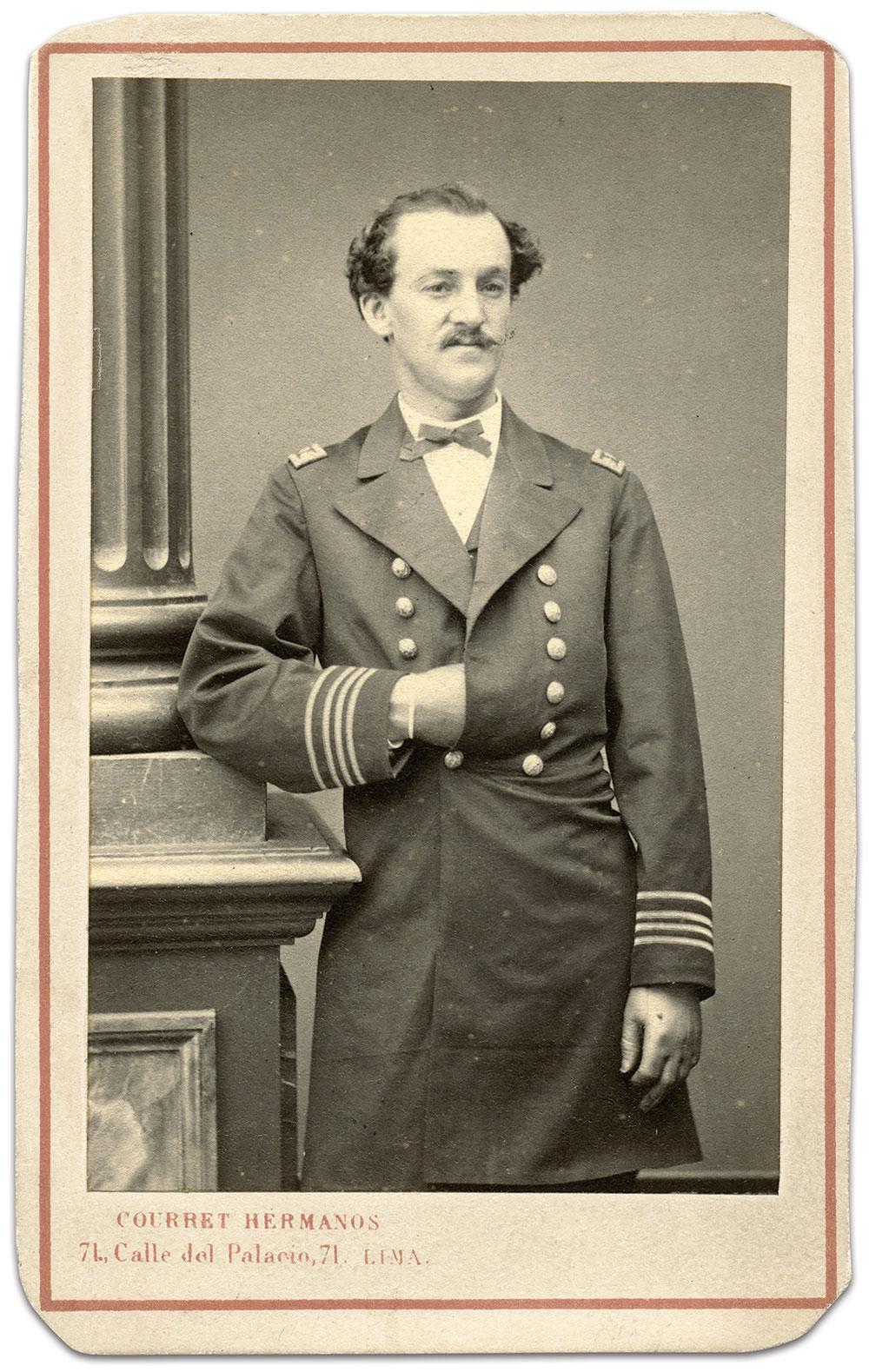 Paymaster Henry Meigs Meade, U.S. Navy. Carte de visite by Courret Hermanos of Lima, Peru, about 1869. Ronald S. Coddington Collection.