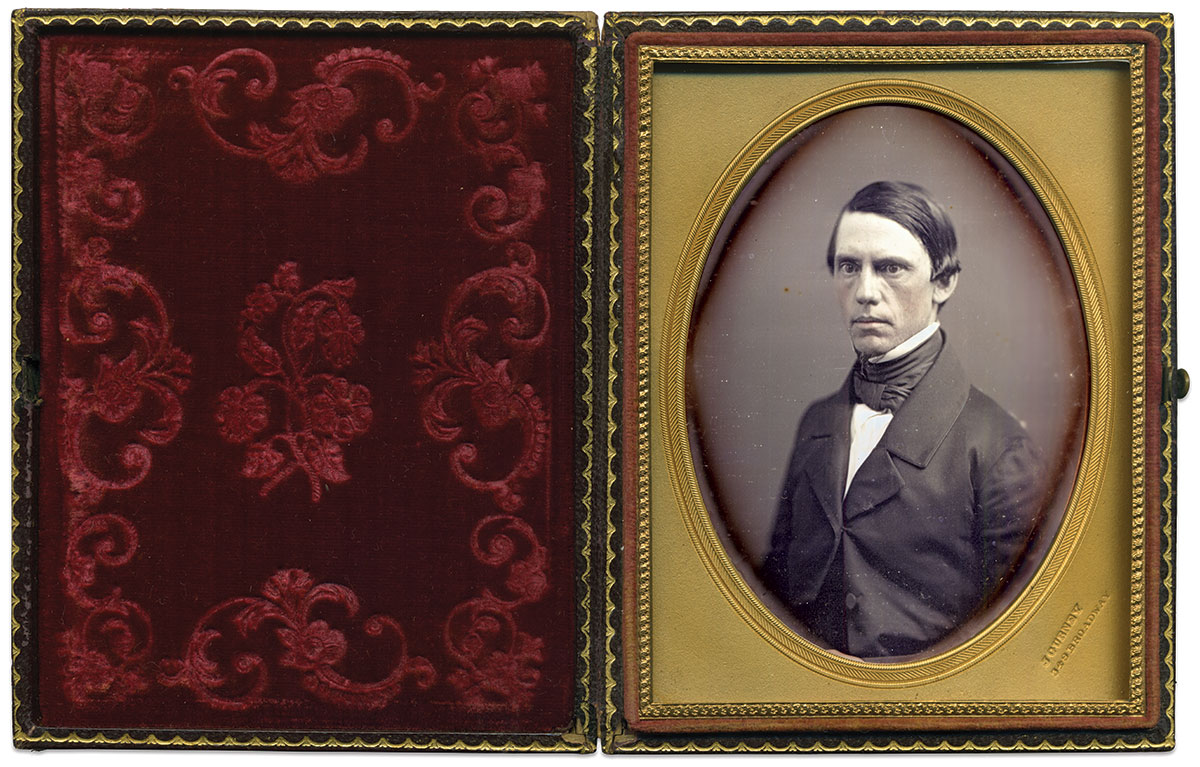 Quarter-plate daguerreotype by Jeremiah Gurney of New York City. Mike Medhurst Collection.