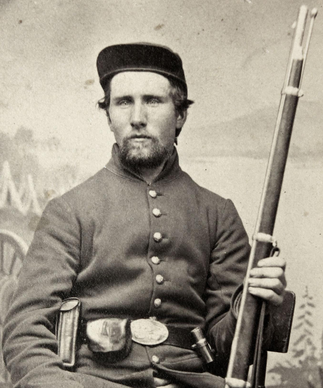 Unidentified federal infantryman. Buck Zaidel collection.
