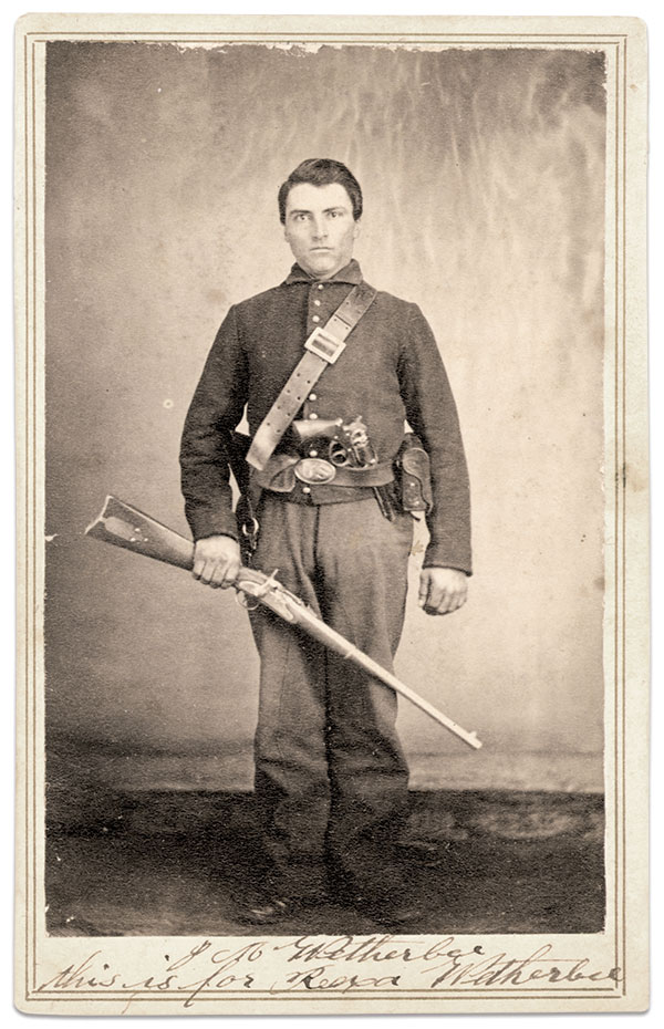 Pvt. James M. Wetherbee, 83rd Illinois Infantry. Carte de visite by an anonymous photographer. Private Collection.