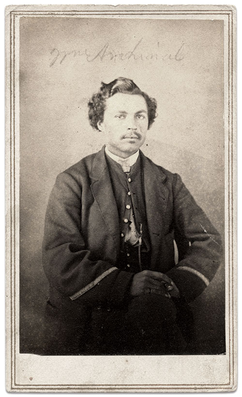 William J. Archinal, 30th Ohio Infantry. Carte de visite by an anonymous photographer. Karl Sundstrom Collection.
