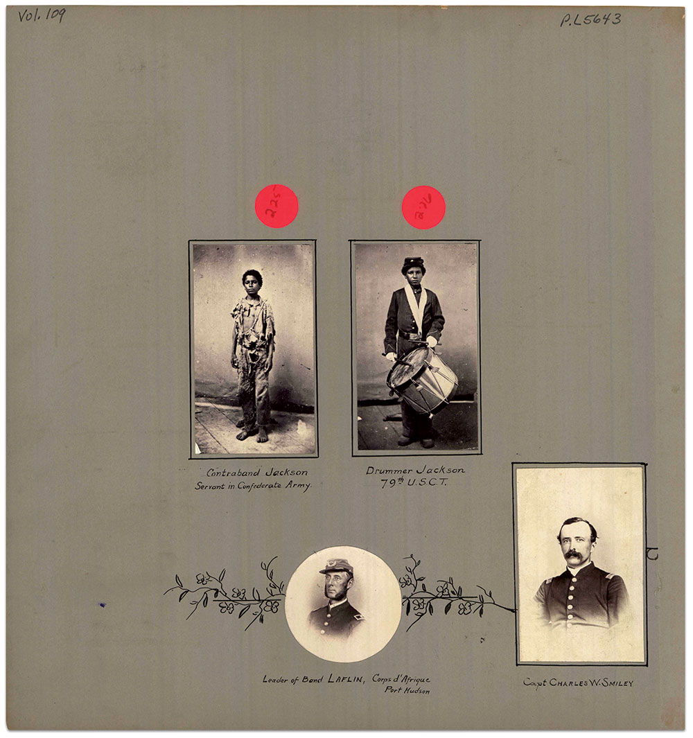 Album page from Volume 109 of the MOLLUS-Mass Collection at the U.S. Army Military Heritage and Education Center.