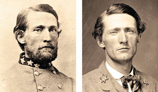 """CASE STUDY: Searching the right photo of John S. Mosby as a Confederate major yielded 919 search results with the correct match, left, showing Mosby as a colonel, ranked No. 148. Applying the """"Confederate"""" army and """"Major"""" rank filters improved the position of the matching photo to No. 12. Images: Library of Congress."""