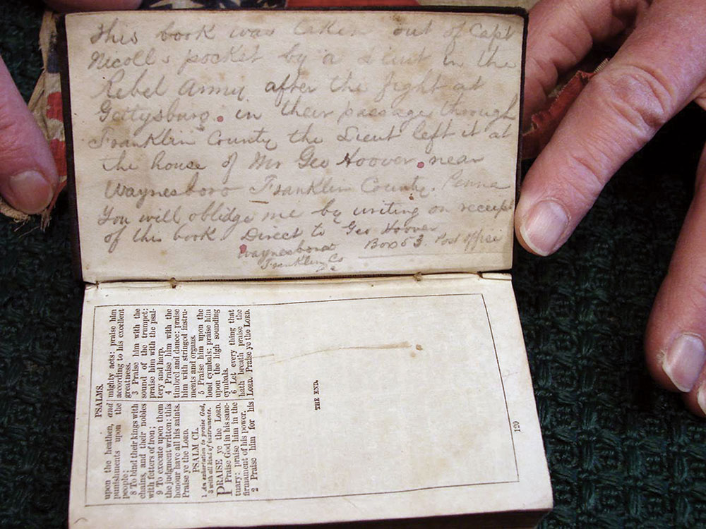 Isaac Nicoll's Bible is currently in the hands of his descendants. John Nicoll Family collection.