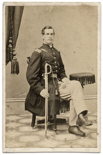 Capt. Nicoll in 1862. Carte de visite by Lawrence of Newburgh, N.Y. Rick Carlile collection.