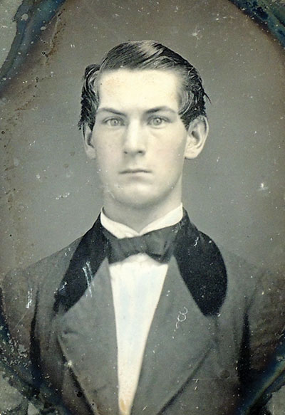 Ninth-plate daguerreotype by Abraham Bogardus of New York City. John Nicoll family collection.