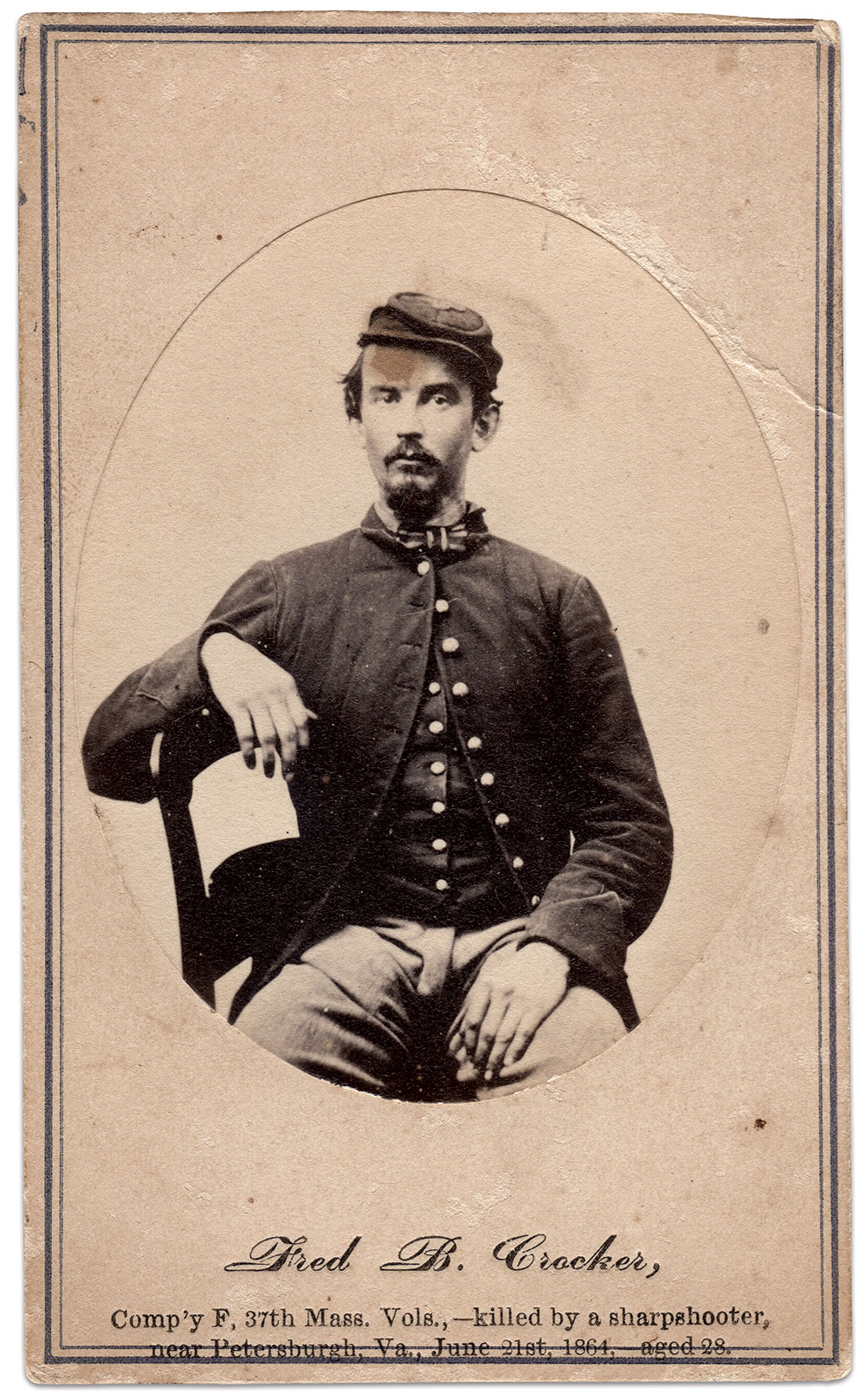 Carte de visite by R. A. Lewis of New York City. Author's collection.