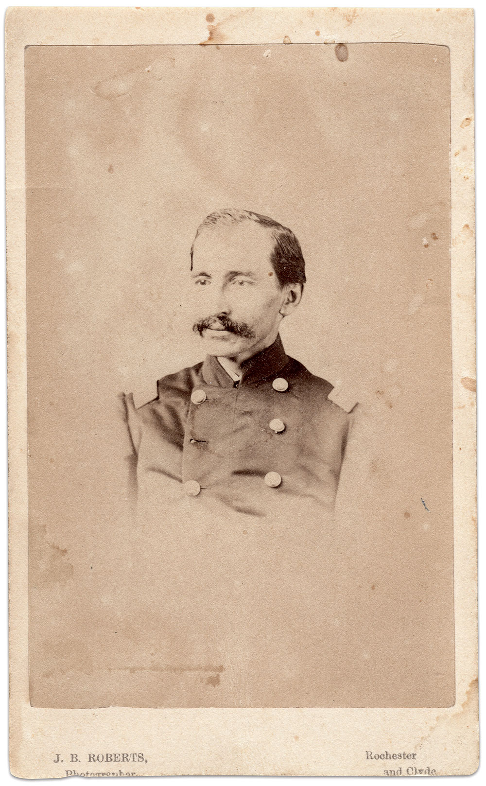 Carte de visite by J.B. Roberts of Rochester, N.Y. Author's collection.