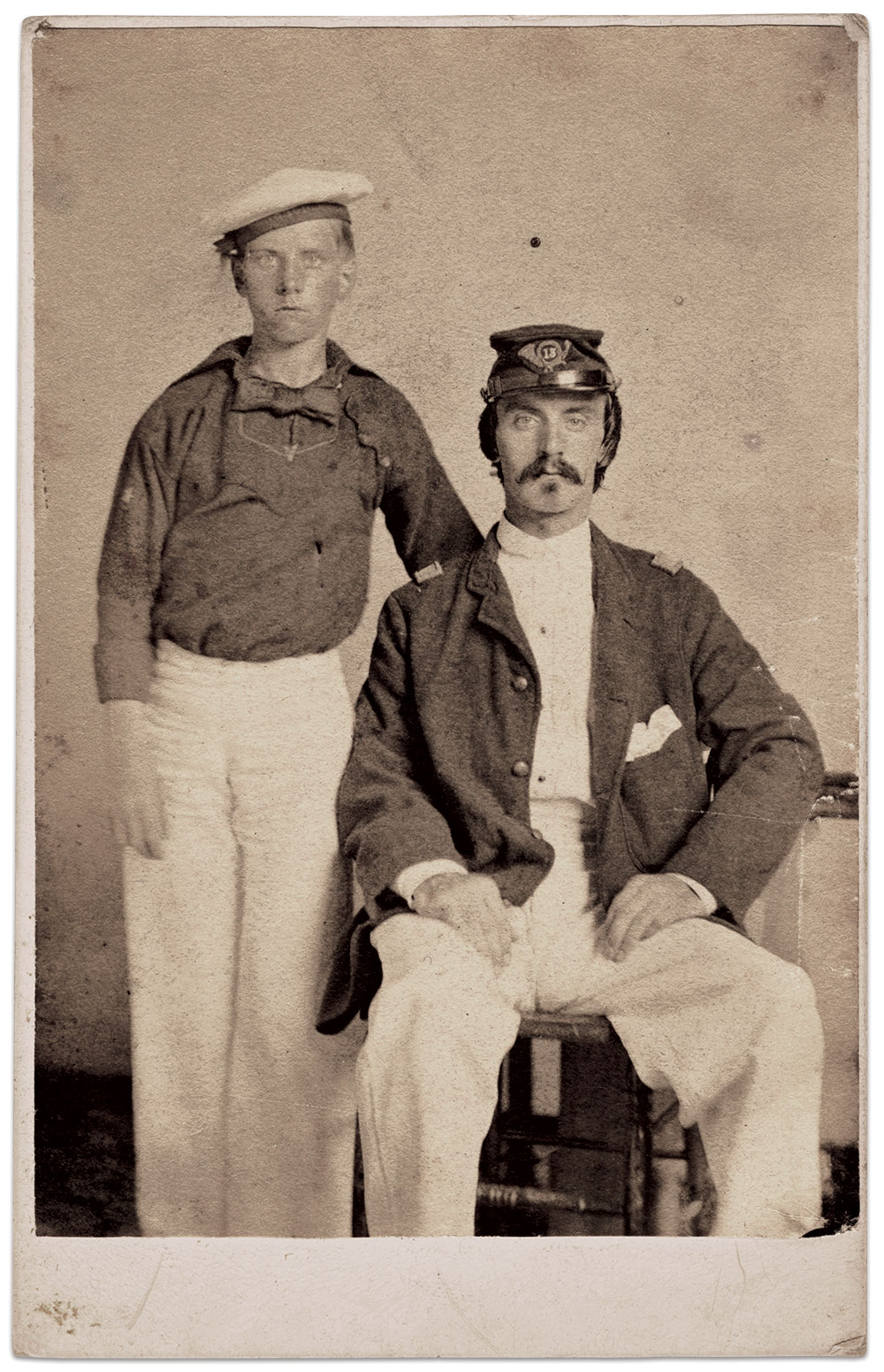 John, left, met up with older brother William in the Crescent City on Sept. 23, 1862.Carte de visite by an anonymous photographer. Author's Collection.