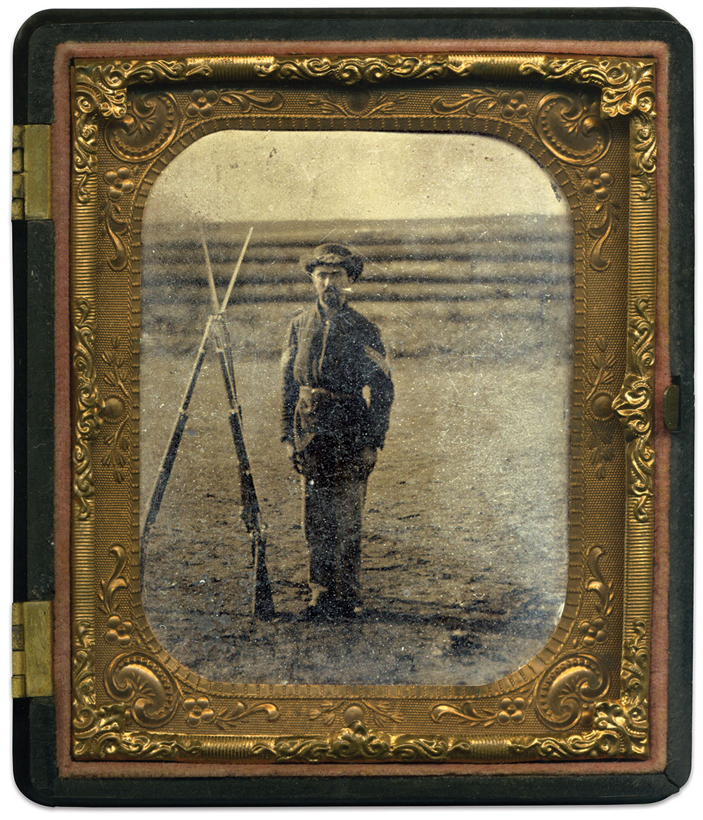 Sixth-plate tintype by an anonymous photographer. Joe Normandy Collection.