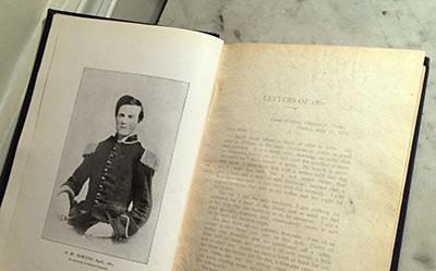 The frontispiece in Army Letters 1861-1865 is an artist's rendering of Norton attired in the pre-war militia uniform of the Girard Guards. The drawing was based upon Norton's April 1861 ambrotype.