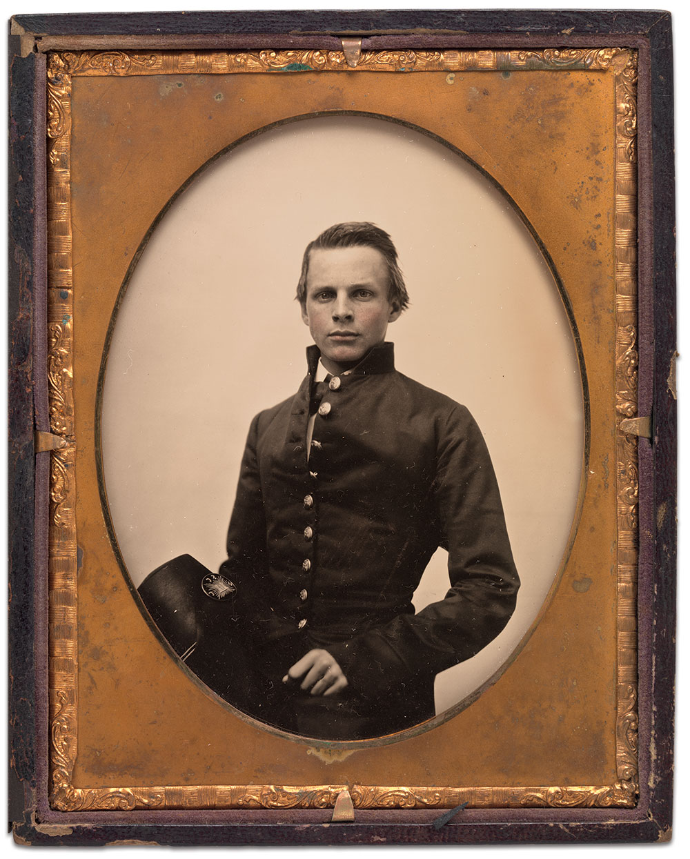 """Half-plate ambrotype by Mathew B. Brady of New York City. National Portrait Gallery Collection. This image is currently on display in a new exhibit, """"Antebellum Portraits by Mathew Brady,"""" at the Smithsonian Institution's National Portrait Gallery in Washington, D.C., through June 3, 2018."""