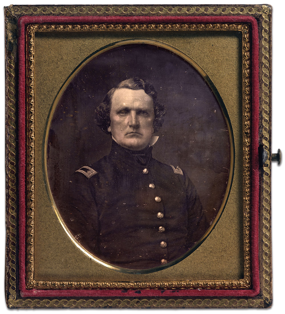 """This image is currently on display in a new exhibit, """"Antebellum Portraits by Mathew Brady,"""" at the Smithsonian Institution's National Portrait Gallery in Washington, D.C., through June 3, 2018. Sixth-plate daguerreotype by Mathew B. Brady of New York City. National Portrait Gallery Collection."""