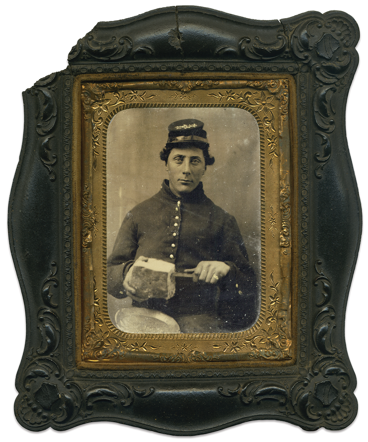 Quarter-plate tintype by an anonymous photographer. Art O'Leary Collection.