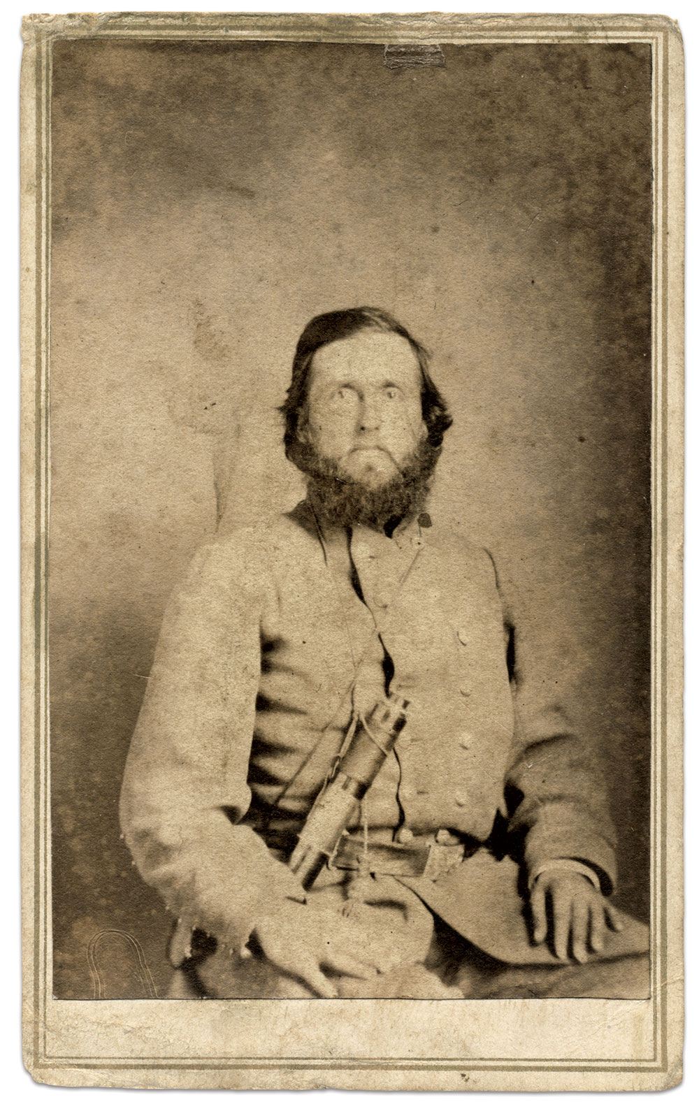 Carte de visite by Ward & Shull, possibly of Danville, Ky. Phil McCoy Collection.