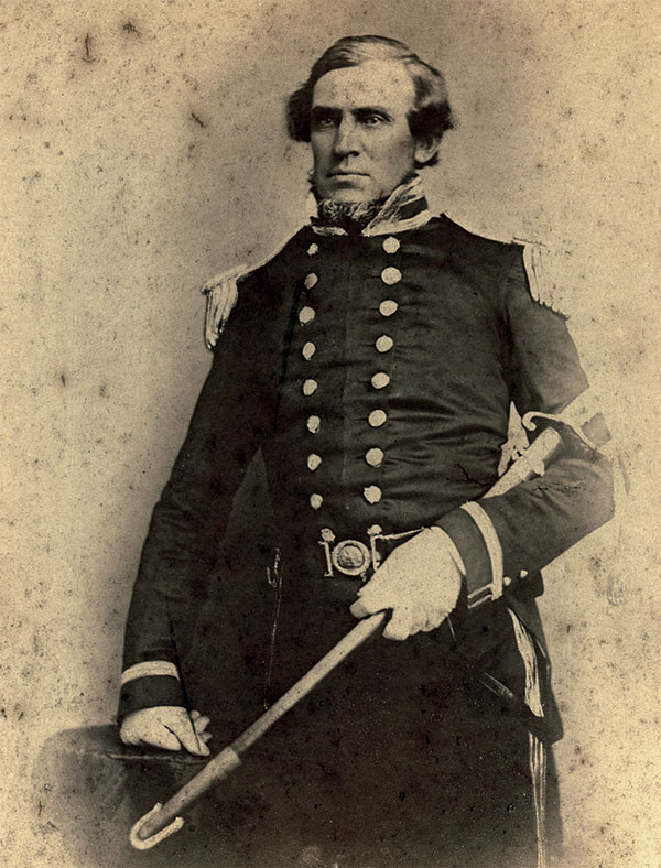 This albumen print of Lt. Berryman is likely a post-war copy of an ambrotype. Author's Collection.