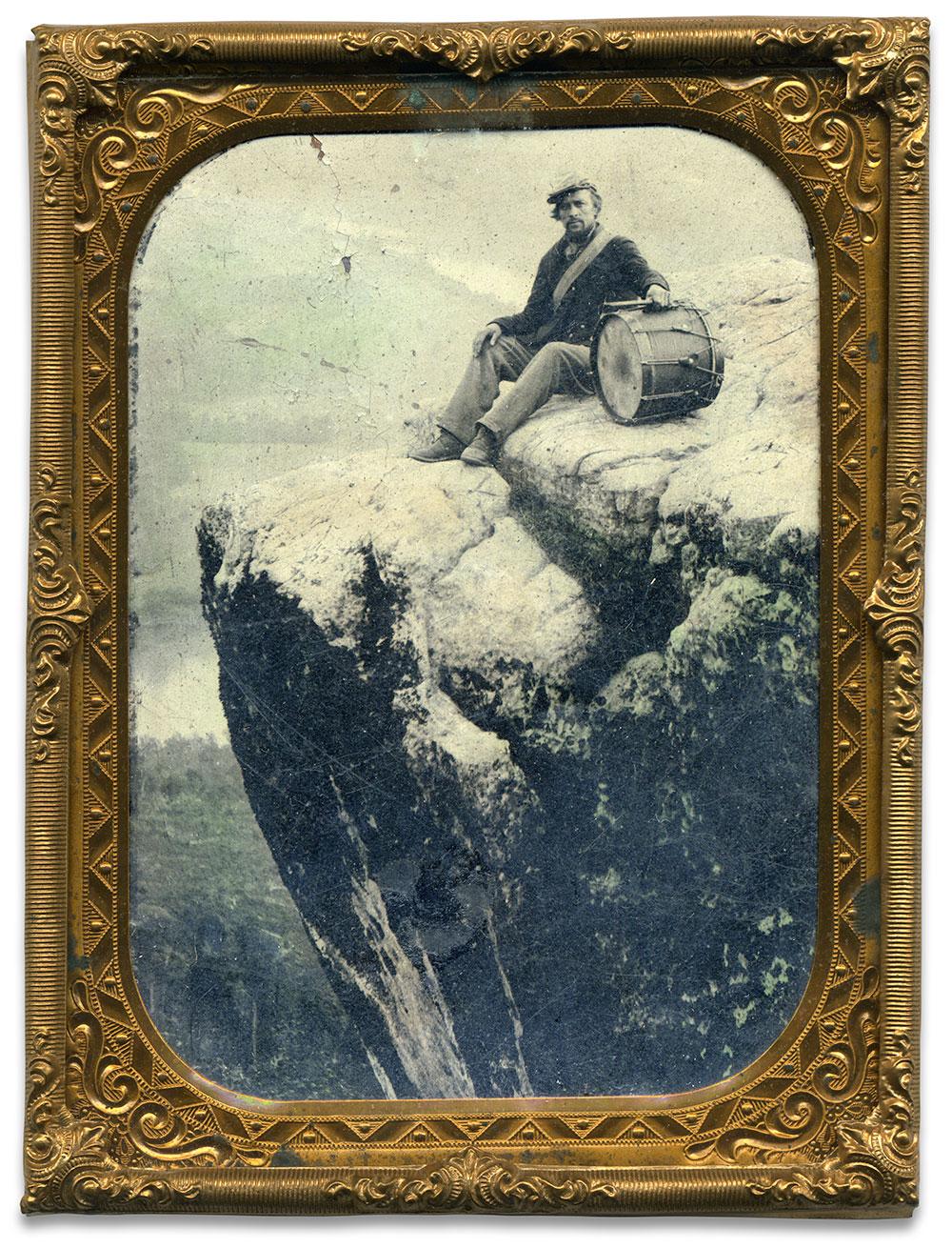 Quarter-plate tintype attributed to Robert M. and James B. Linn of Chattanooga. Tenn.