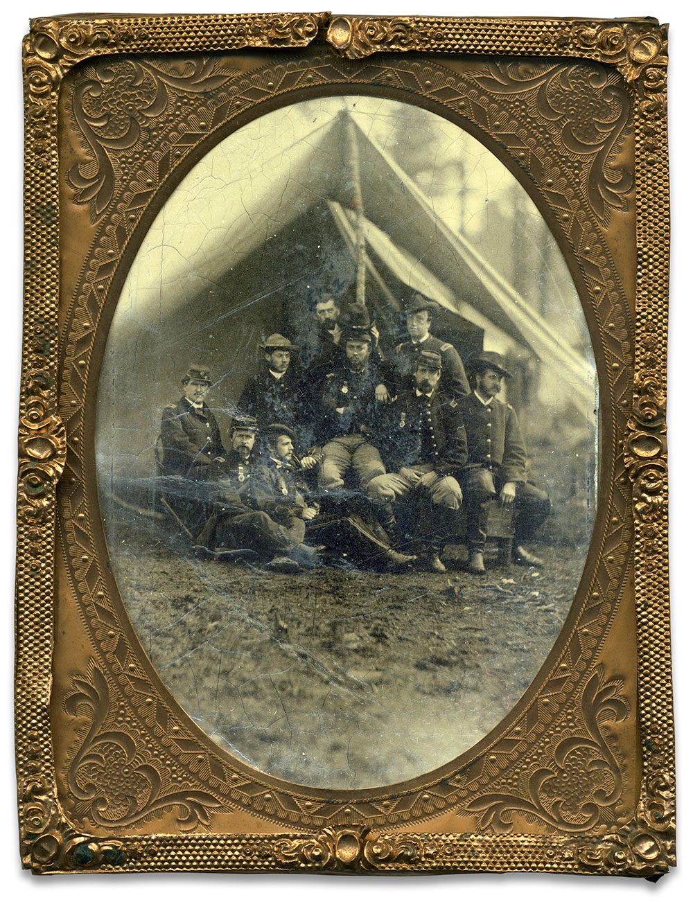 Quarter-plate tintype attributed to Timothy H. O'Sullivan.