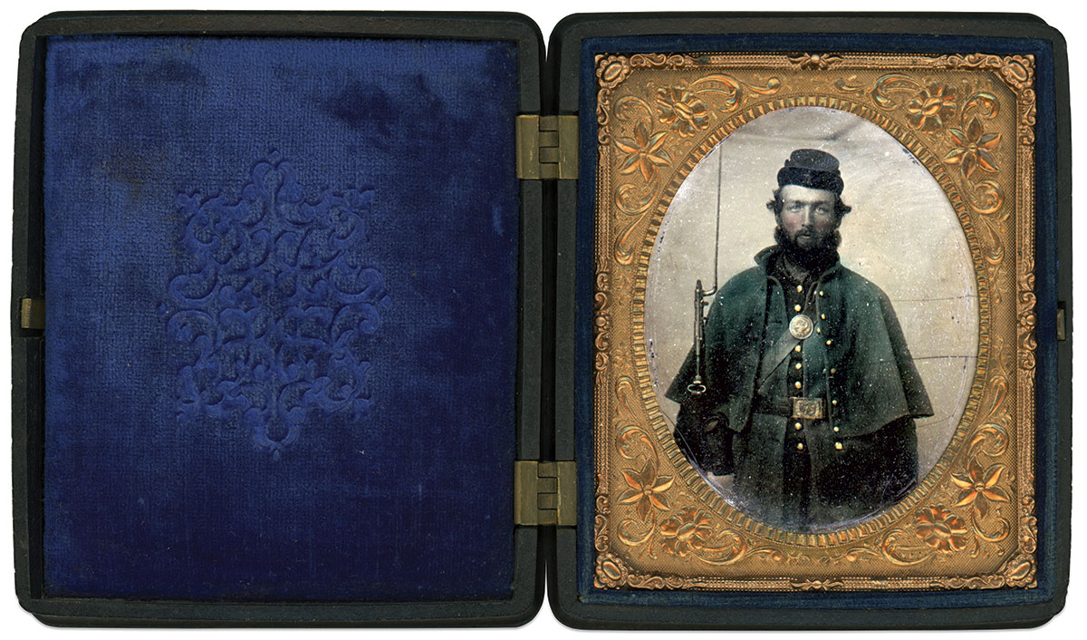 Sixth-plate ambrotype by an anonymous photographer. Gary Pagel Collection.