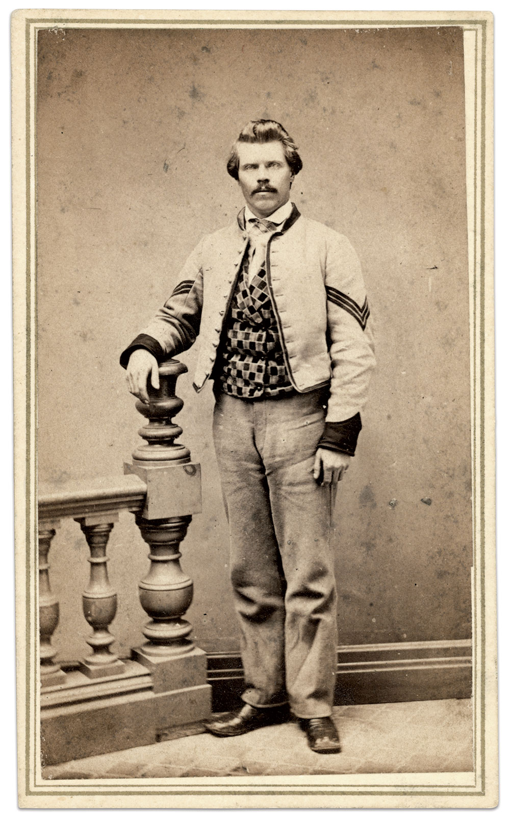 Carte de visite by E.R. Curtiss of Madison, Wis. Gary Pagel Collection.