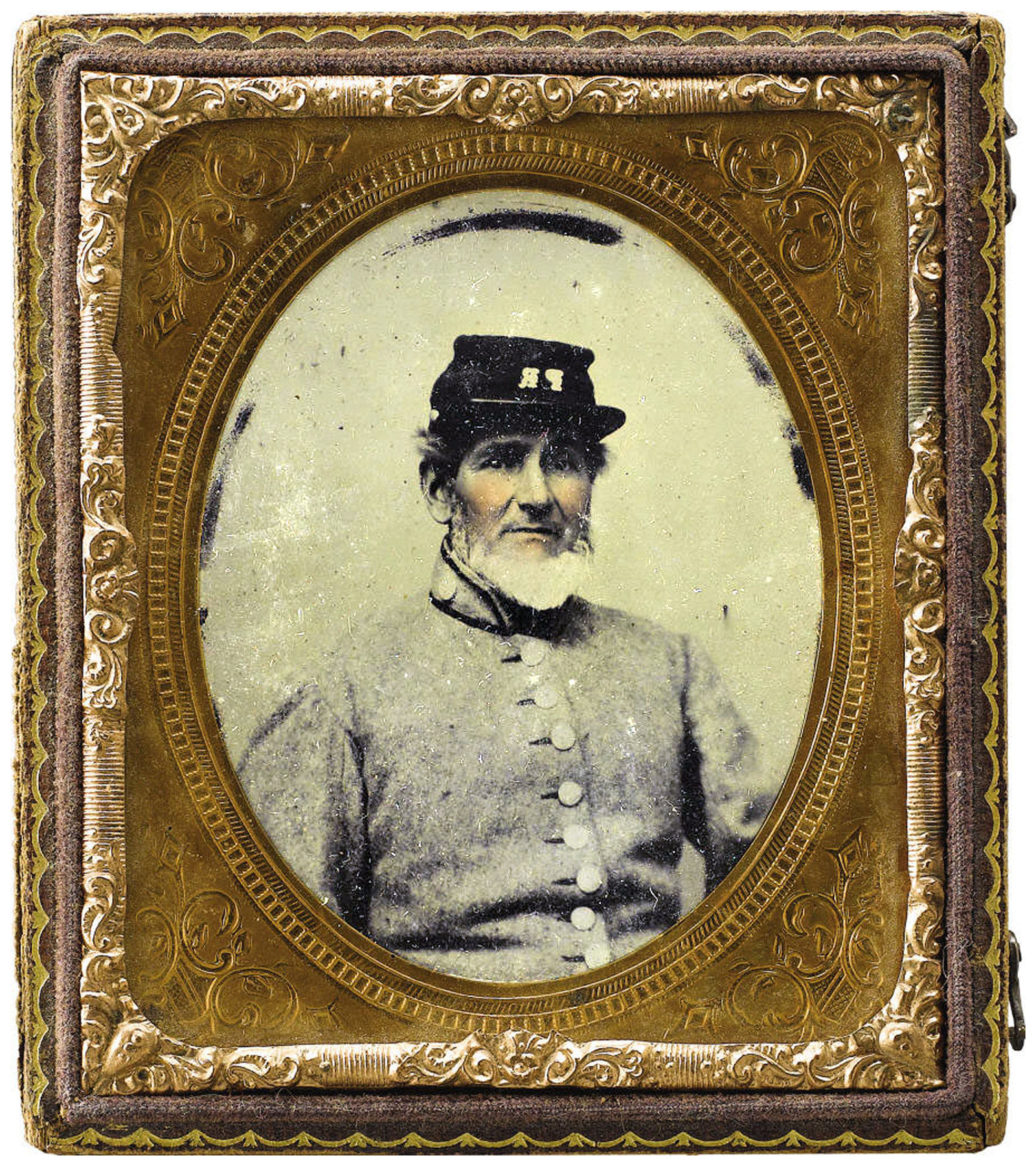 Sixth-plate ambrotype by an anonymous photographer. Courtesy of Brian Akins.