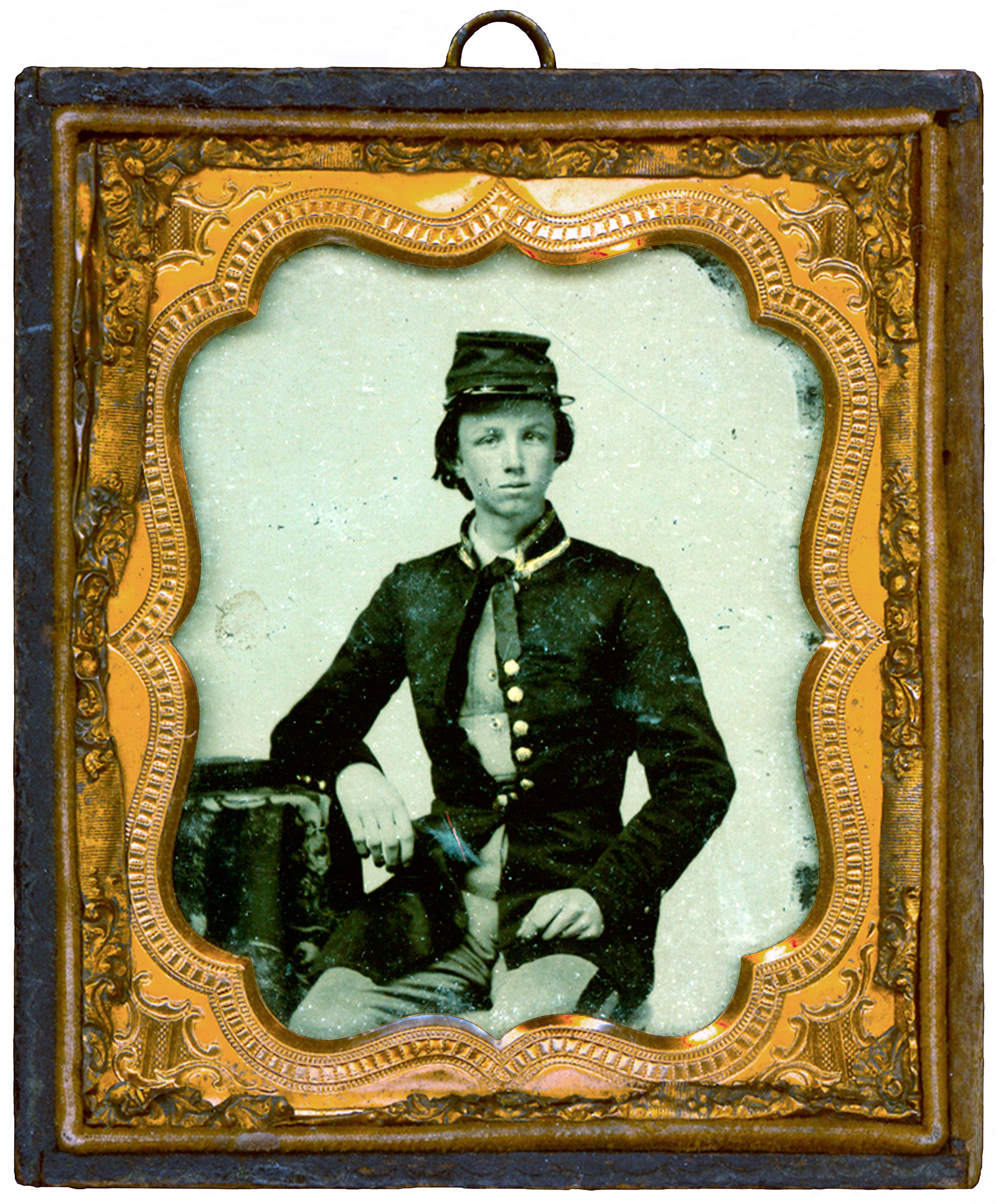 Quarter-plate ambrotype by an anonymous photographer. Courtesy of Citadel Archives, Charleston, S.C.