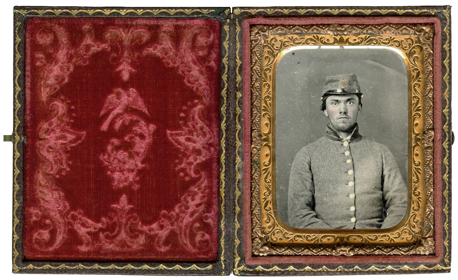 Ninth-plate ambrotype by an anonymous photographer. Ron Field collection.