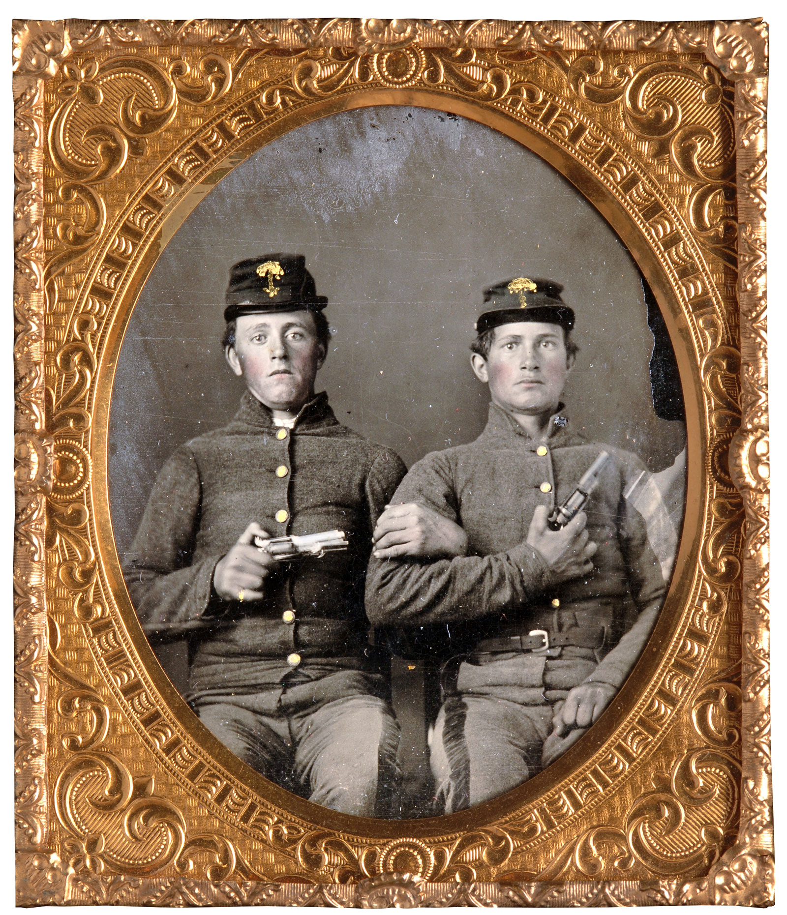 Sixth-plate ambrotype by an anonymous photographer. David W. Vaughan collection.