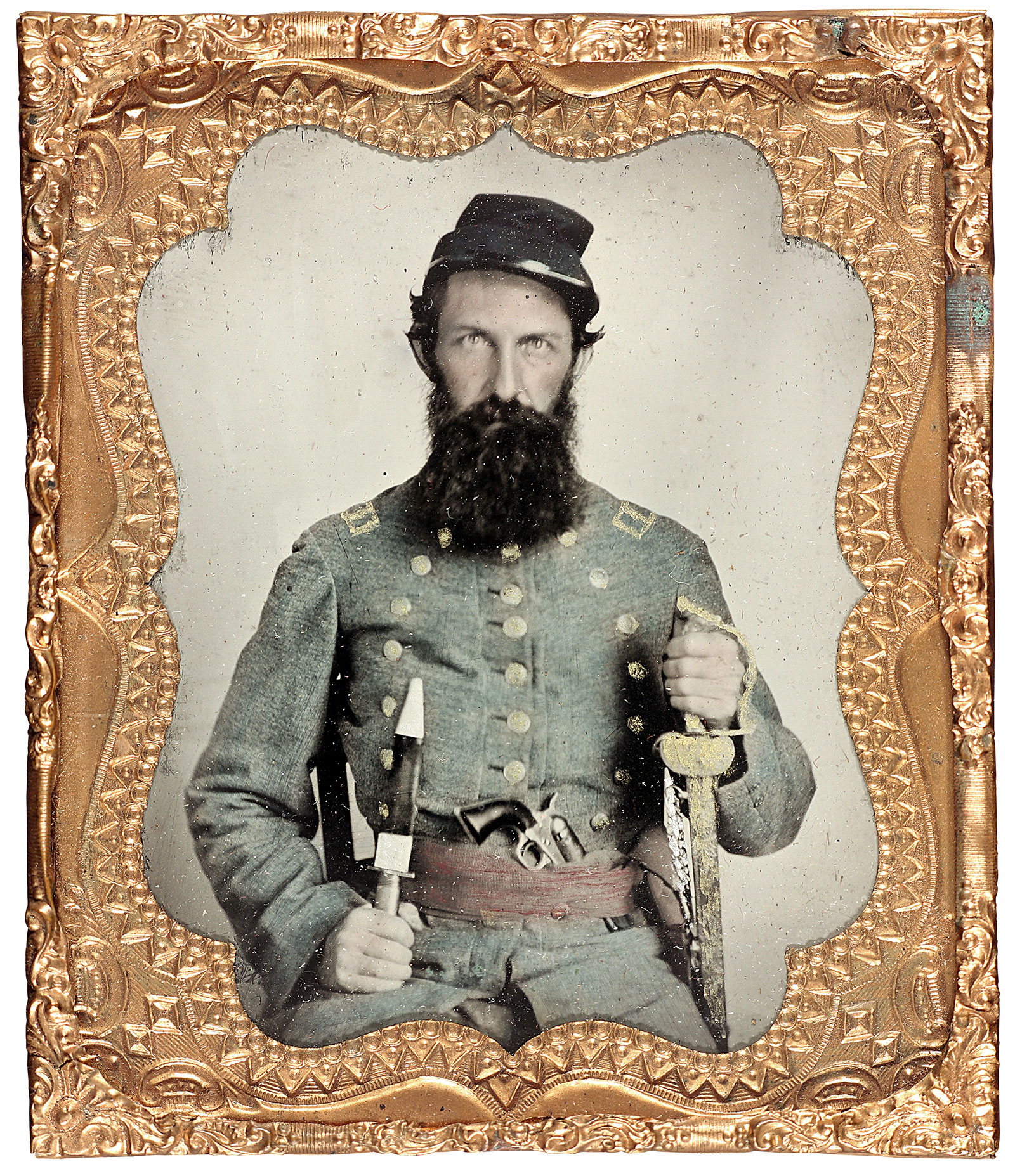 Sixth-plate tintype by an anonymous photographer. David W. Vaughan collection.