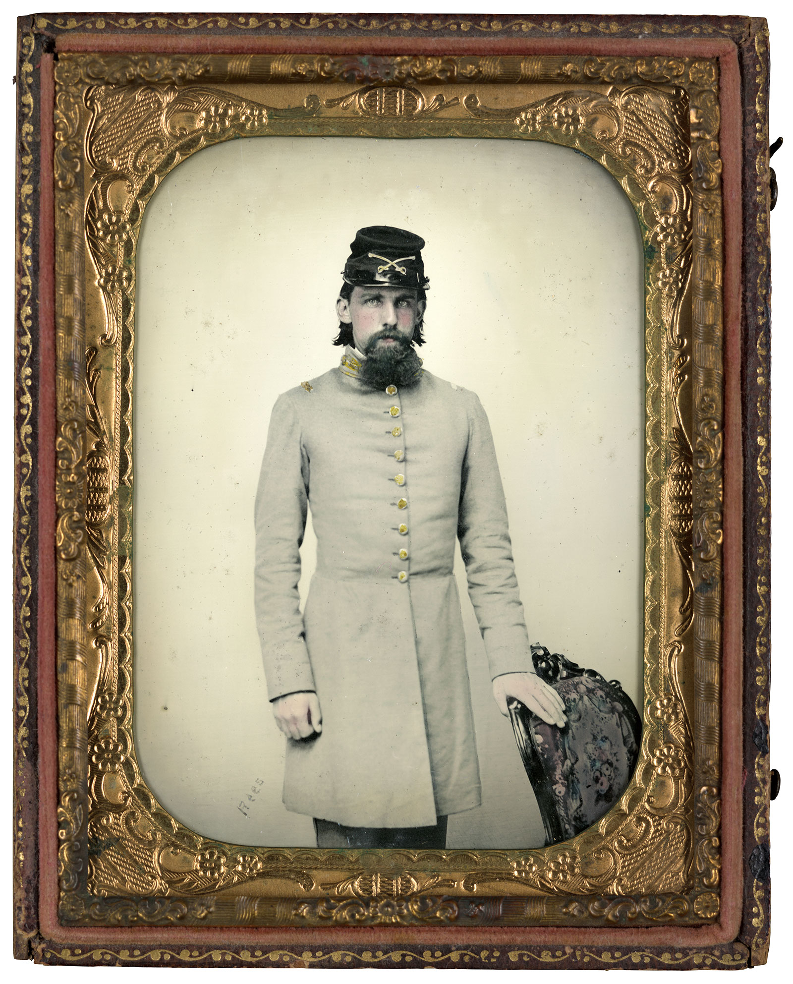 Quarter-plate ambrotype by Charles R. Rees of Richmond, Va. The Liljenquist Family Collection, Library of Congress.
