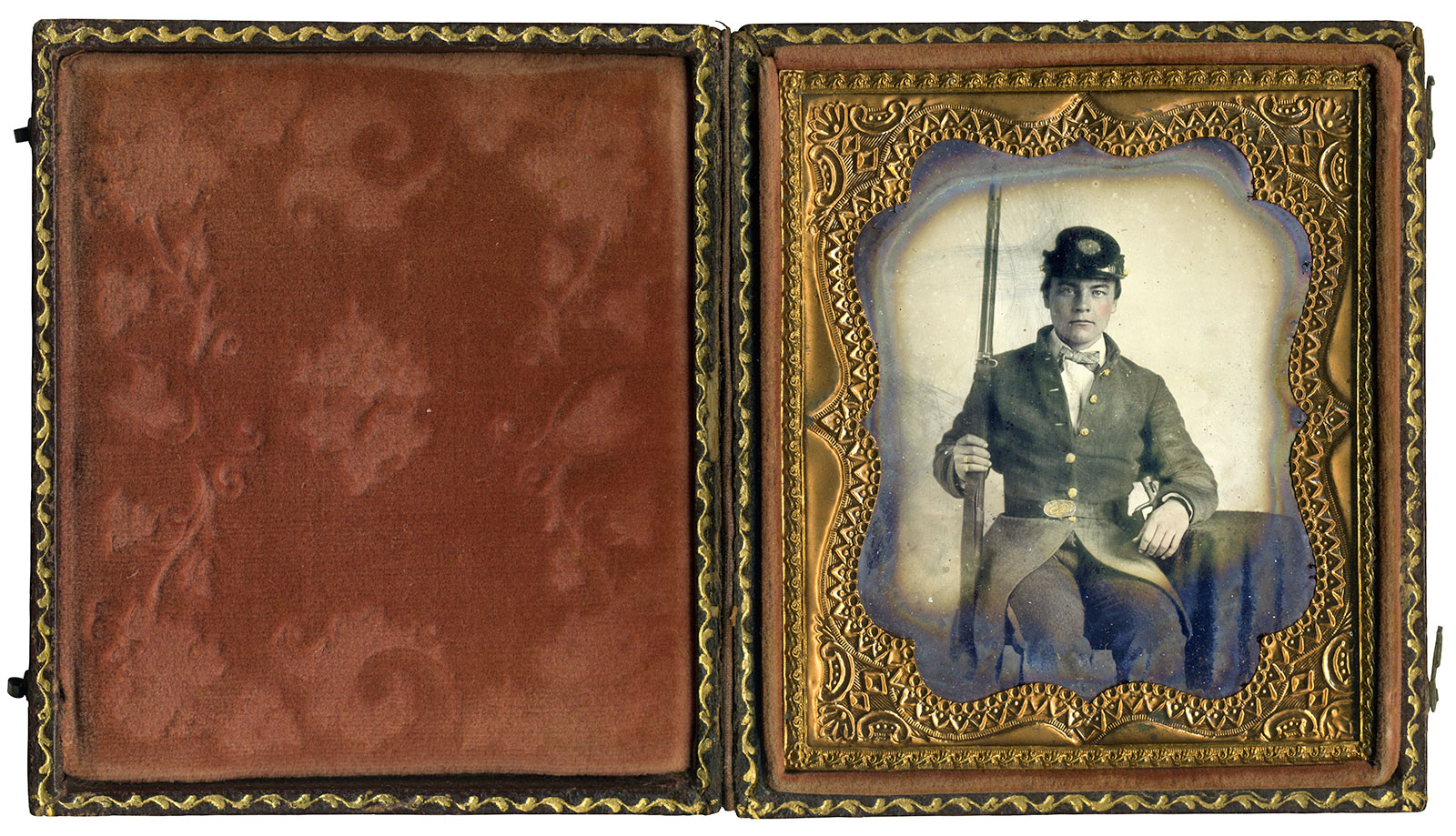 Sixth-plate ambrotype by an anonymous photographer. Paul Reeder collection.