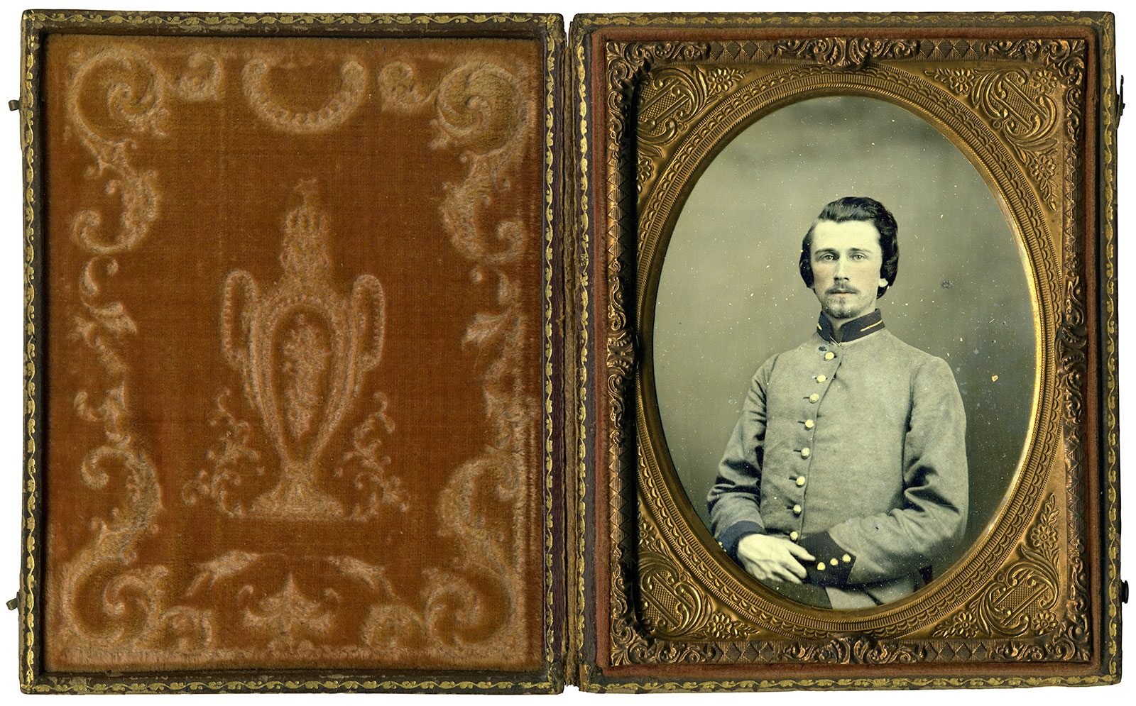 Quarter-plate ruby ambrotype by an anonymous photographer. The Liljenquist Family Collection, Library of Congress.