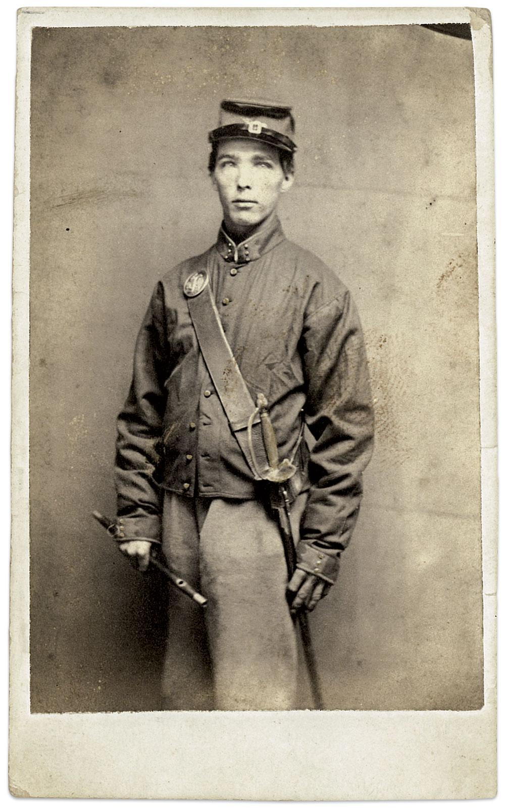 Carte de visite by an anonymous photographer. Ronn Palm's Museum of Civil War Images.
