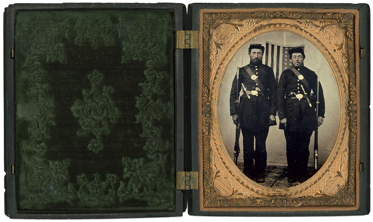 Quarter-plate tintype by an anonymous photographer. Michael Passero Collection.