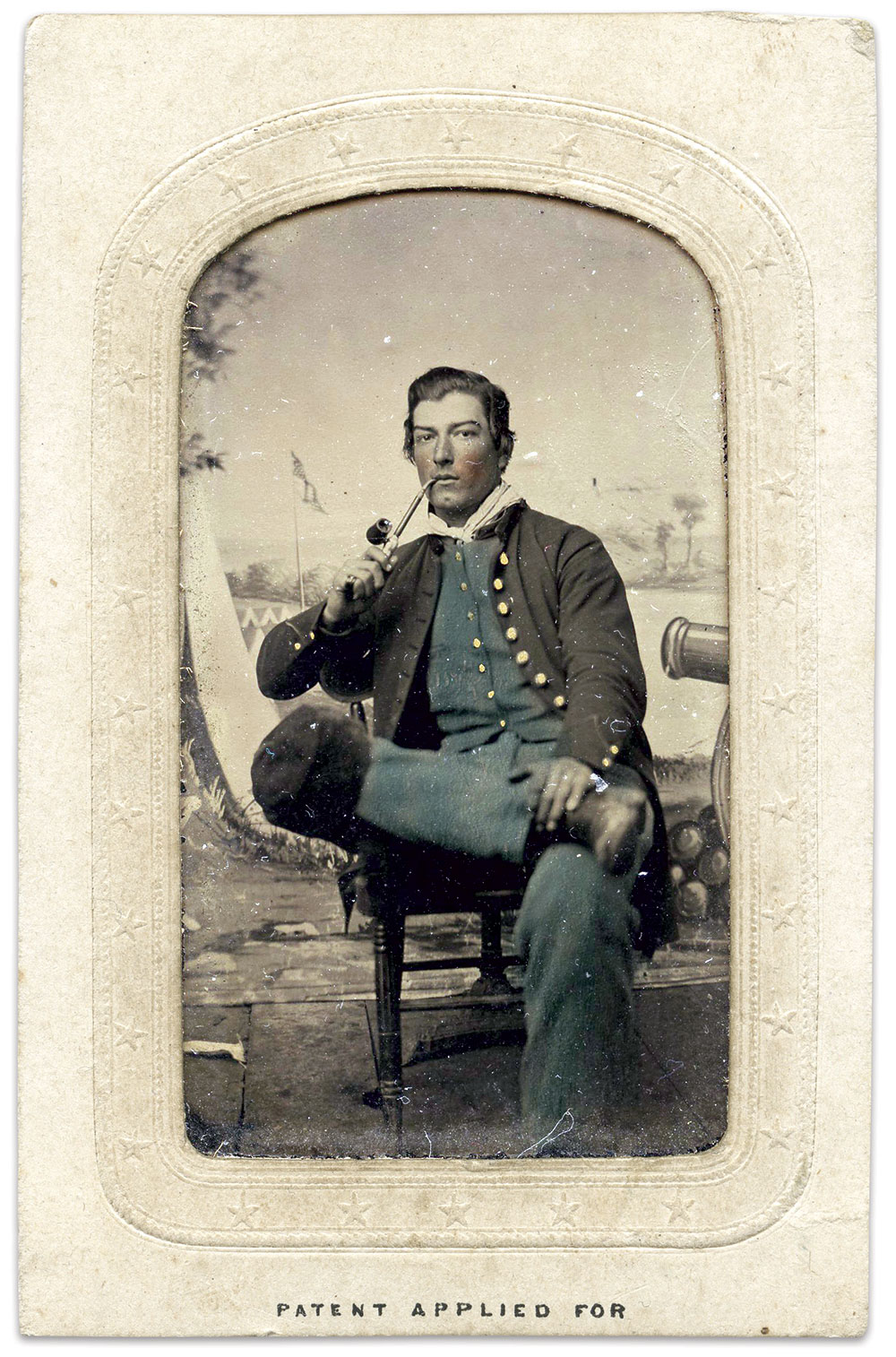 Eighth-plate tintype by an anonymous photographer. Paul D. Mehney Collection.