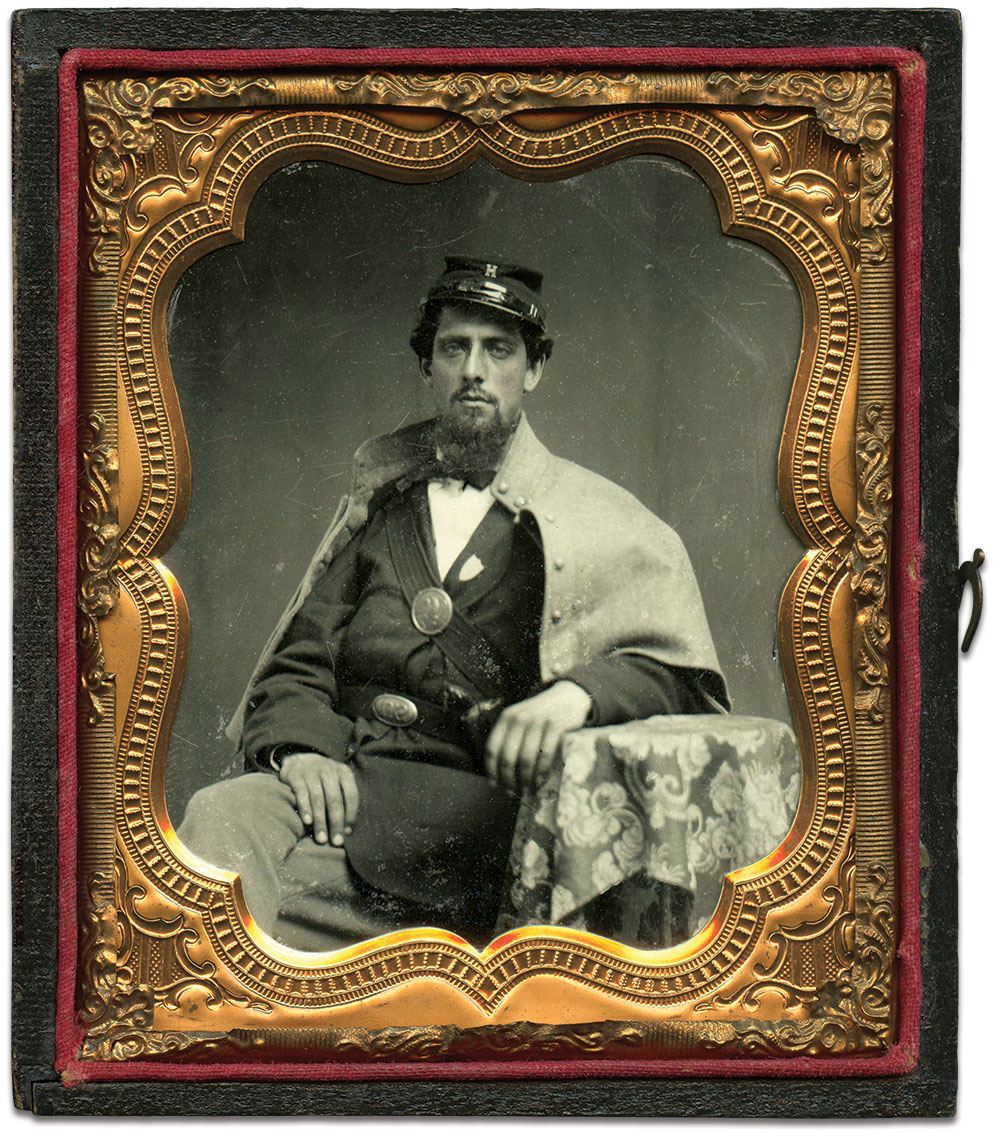 Klinefelter, about 1861. Sixth-plate tintype by an anonymous photographer. Author's collection.
