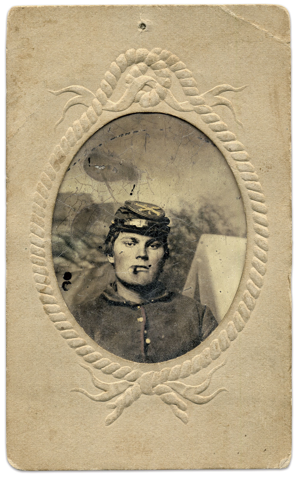 Eighth-plate tintype by an anonymous photographer. Paul Bucher Collection.