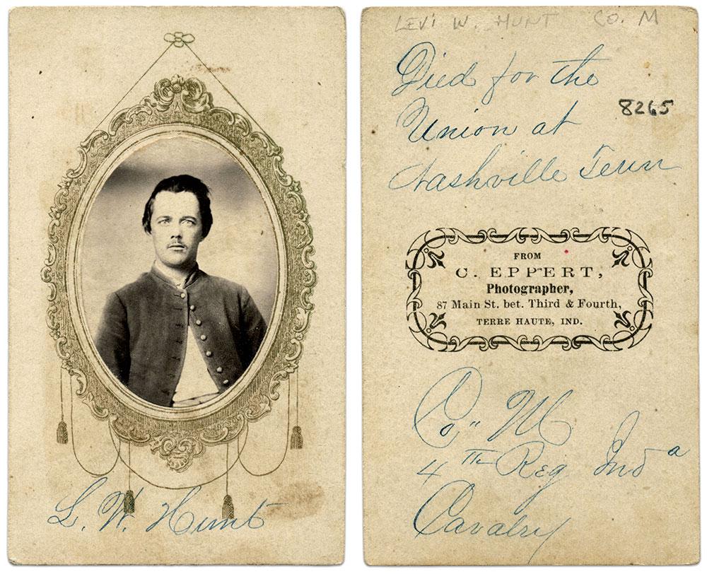 Carte de visite by C. Eppert of Terre Haute, Ind. Ben Pauley Collection.