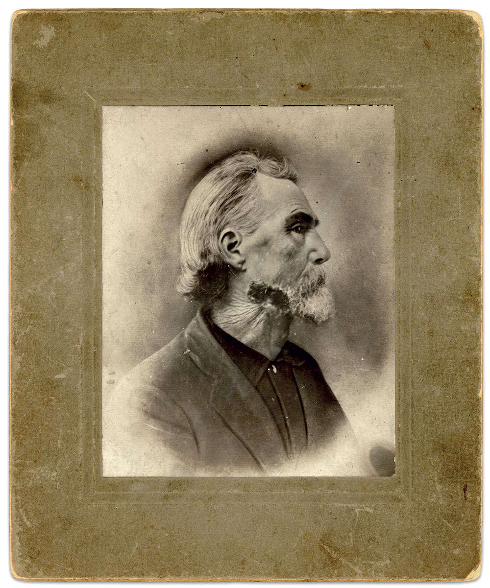 Albumen print by an anonymous photographer. Mike Hilber Collection.