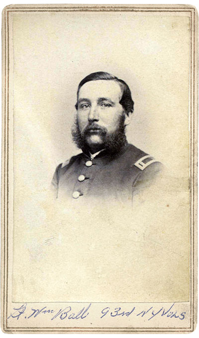 Ball ended his service in November 1864 as a first lieutenant, and later received a captain's brevet. New York State Military Museum.